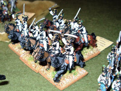 Russian Cuirassiers in 15mm AB figures. Painted by Dragon Painting Service.